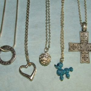 Jewelry - Lot silver tone necklaces Pre-owned to new